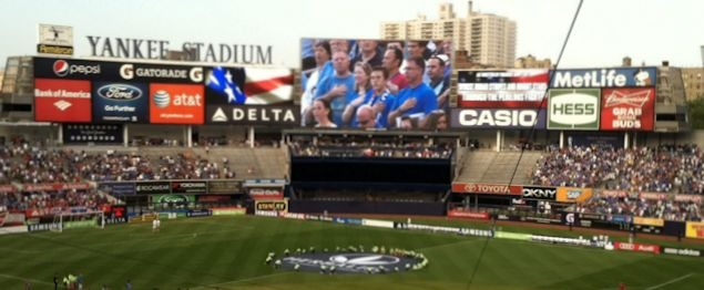 Soccer makes its debut at the new Yankee Stadium.  Credit: Clemente Lisi - USSoccerPlayers.com