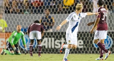 Christian Wilhelmsson scored on his debut with the LA Galaxy on Sept 14th. Credit: Michael Janosz - ISIPhotos.com