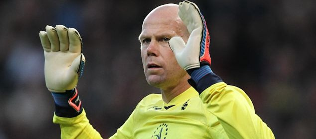 Tottenham goalkeeper Brad Friedel didn't start for the first time in over eight years at Premier League level.  Credit: Matt West - ISIPhotos.com