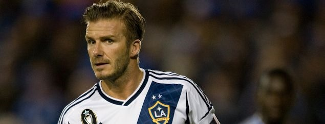 On Nov 19, 2012, LA Galaxy midfielder David Beckham announced he would leave his club at the end of the season.  Credit: Michael Pimentel - ISIPhotos.com