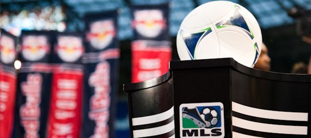 The MLS game ball.  Credit: Howard C. Smith - ISIPhotos.com
