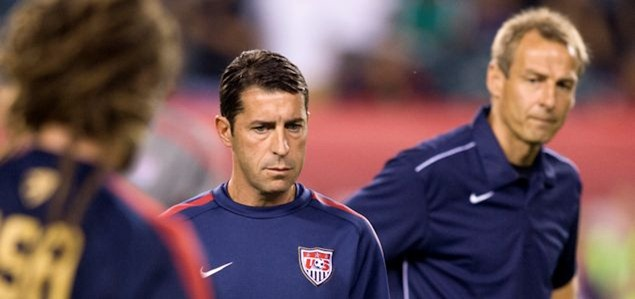 USA Under-20 coach Tab Ramos on full National Team duty with head coach Jurgen Klinsmann.  Ramos is a rarity in American coaching circles, a great player who chose to work with the younger age groups when he moved into coaching. Credit: Brad Smith - ISIPhotos.com