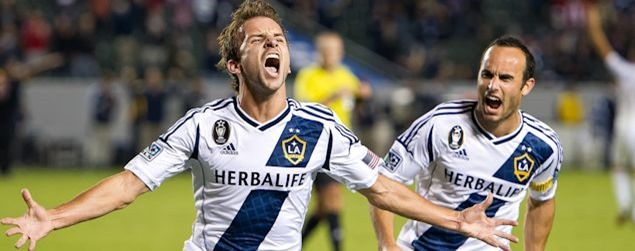 The LA Galaxy's Mike Magee once again showed his playoff form by scoring the equalizer in LA's 2-1 win over Vancouver.  Credit: David Bernal - ISIPhotos.com