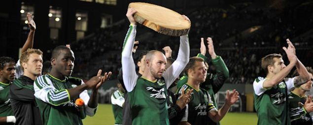 The Portland Timbers in 2012.  Credit: Patricia Giobetti - ISIPhotos.com