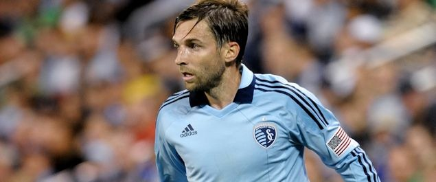 Sporting KC midfielder Bobby Convey in action in March.  Credit: Bill Barrett - ISIPhotos.com