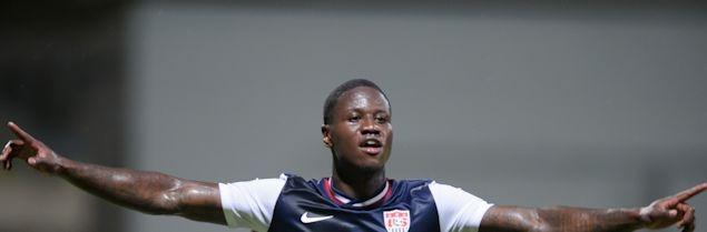 USA goal scorer Eddie Johnson.  Credit: John Todd - ISIPhotos.com